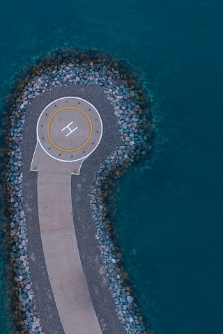 Aerial View of Helipad