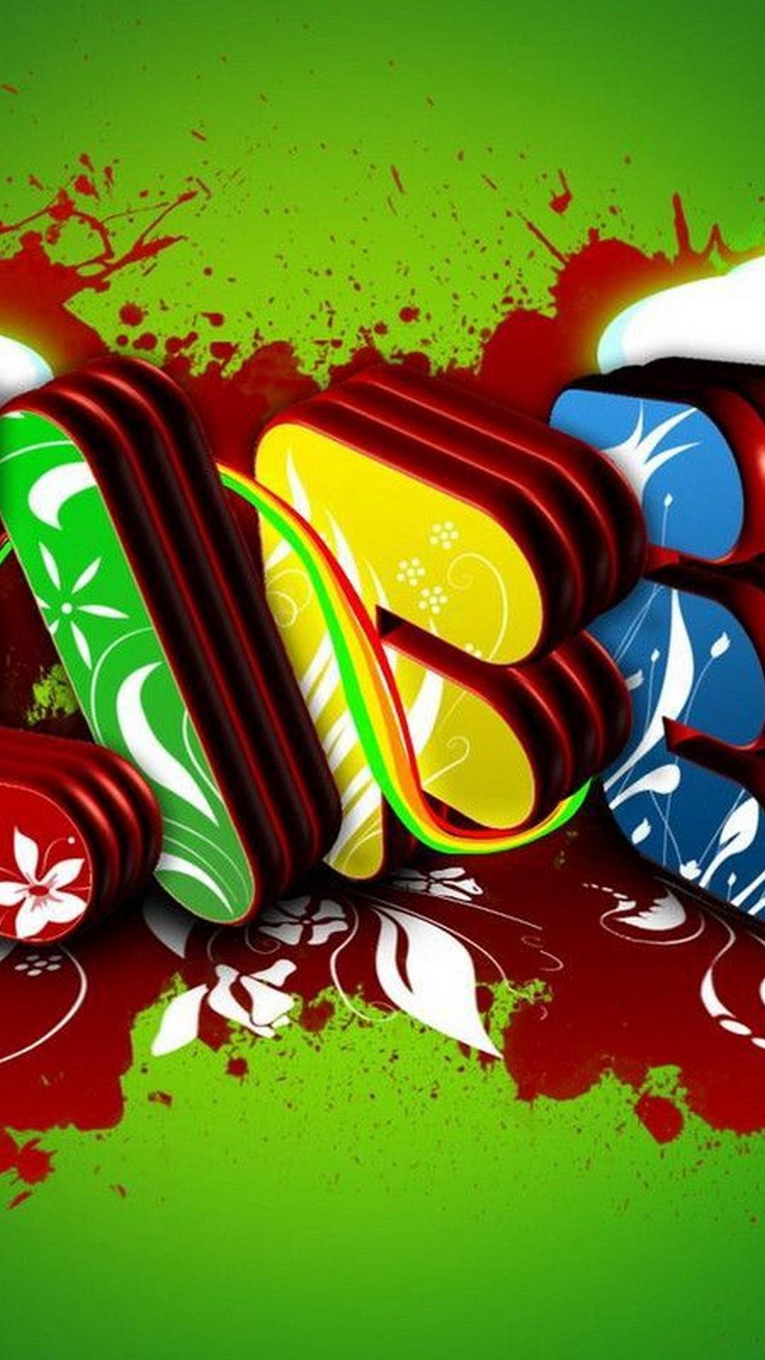 Graffiti Green Letters
