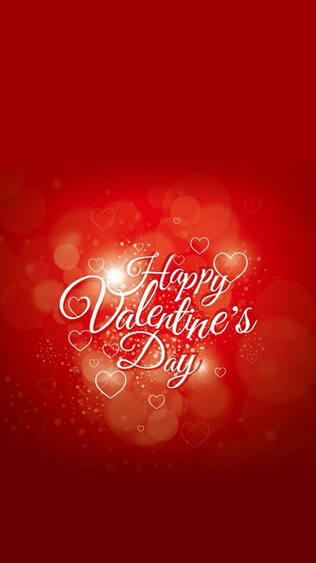 Dark Red Happy Valentines Day Text