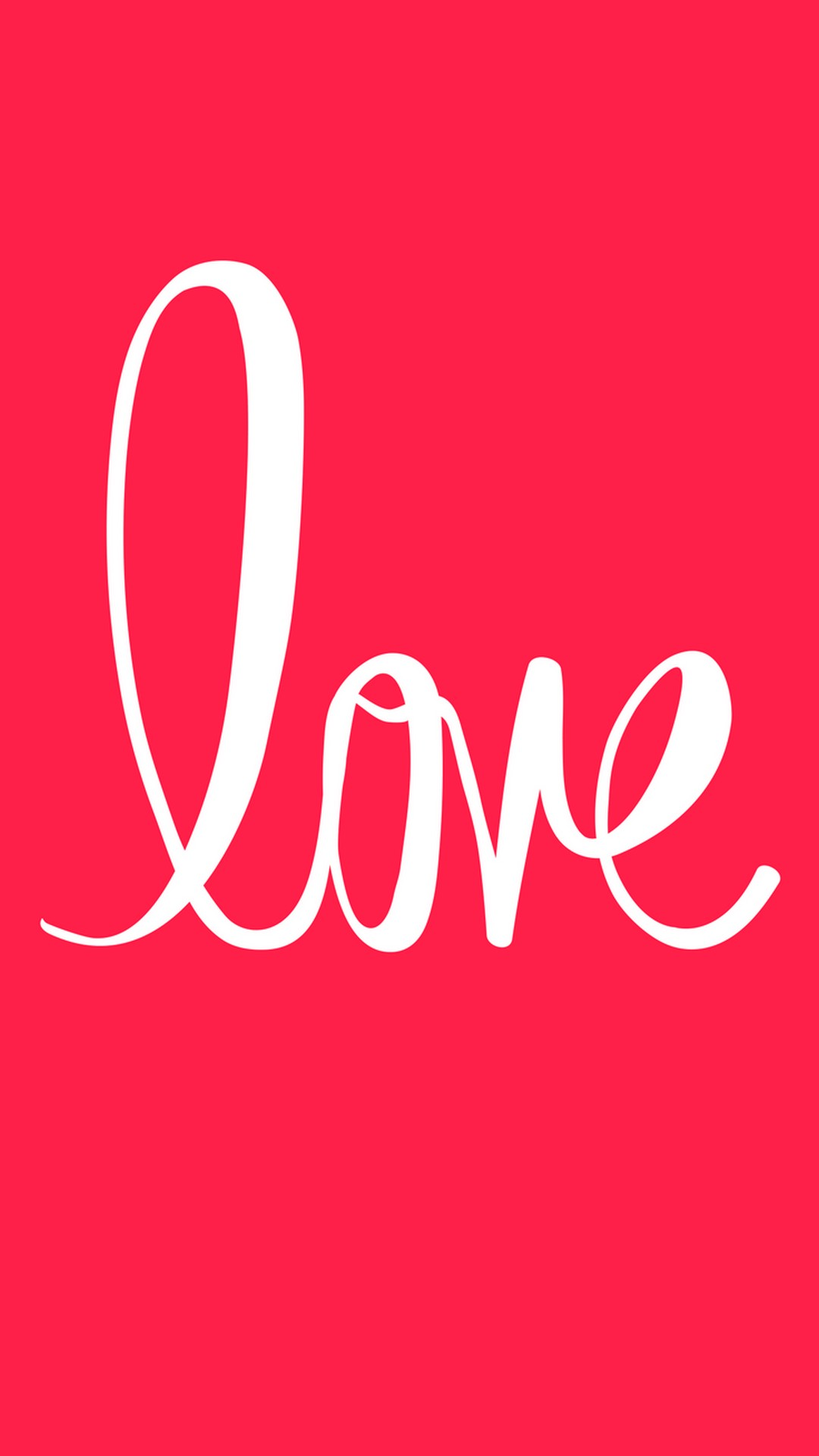 Love Text Red Background