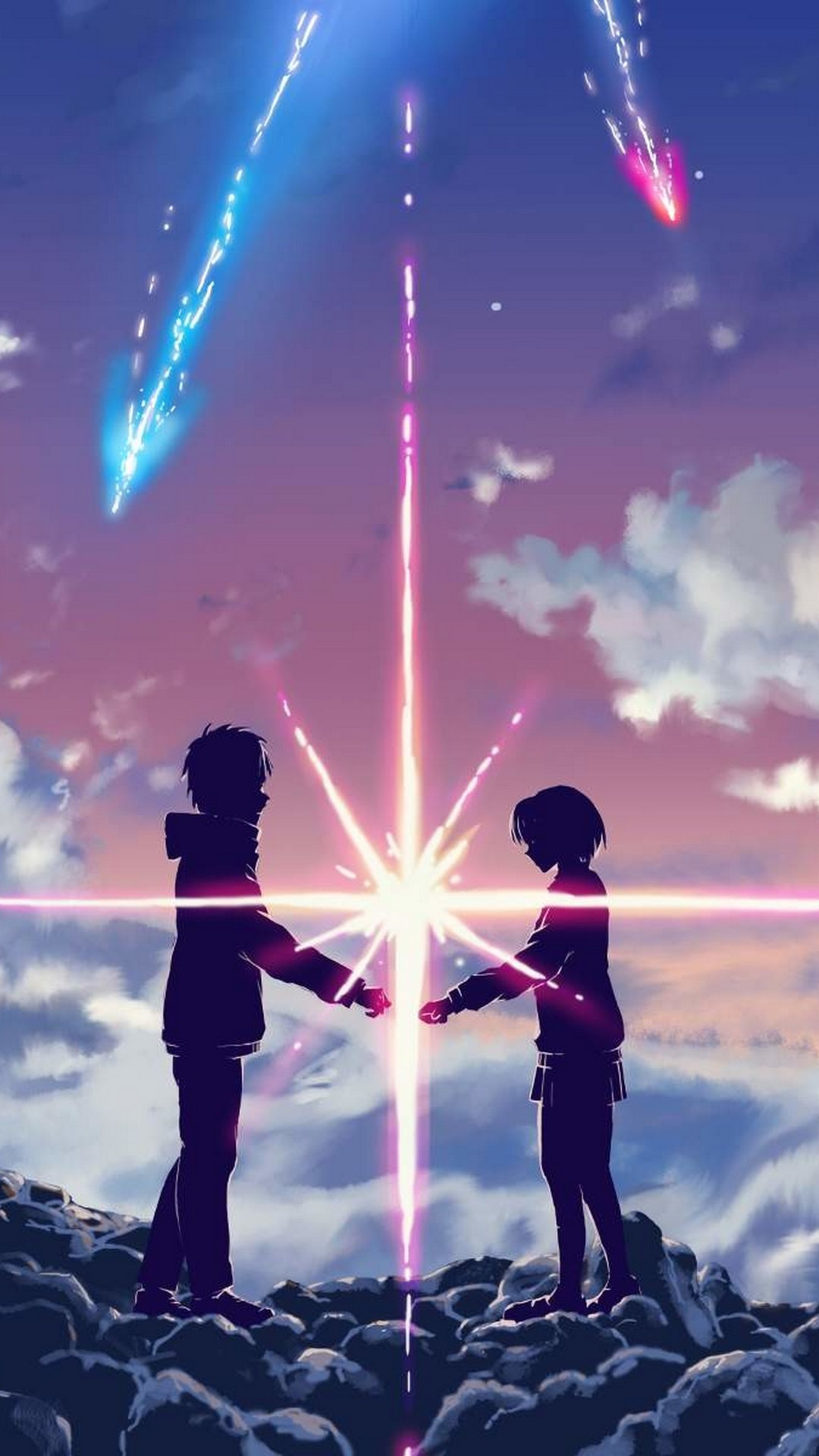 Anime Couple Love in Clouds
