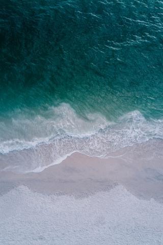 Beach Top drone view