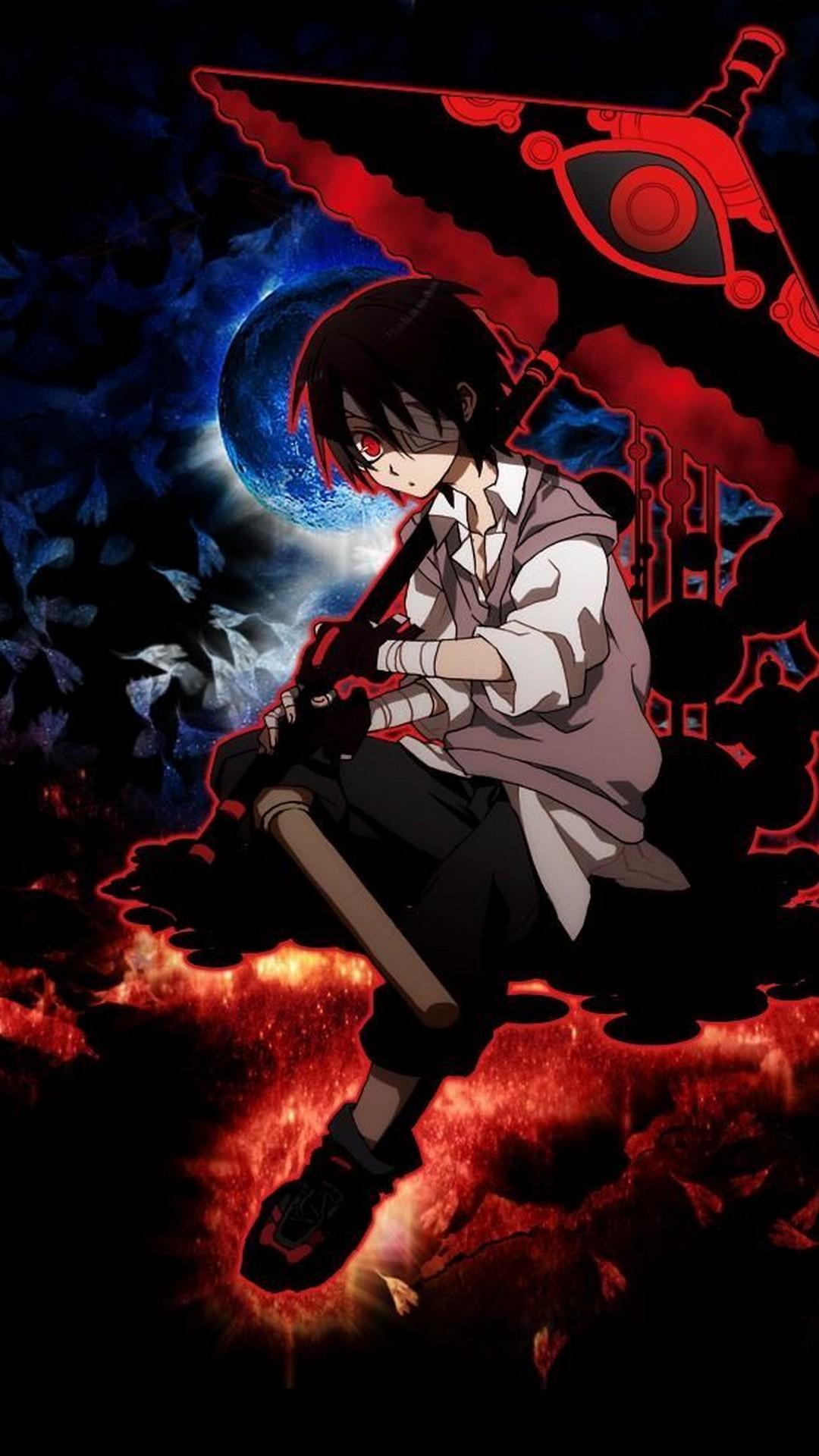 Red Sad Boy Anime