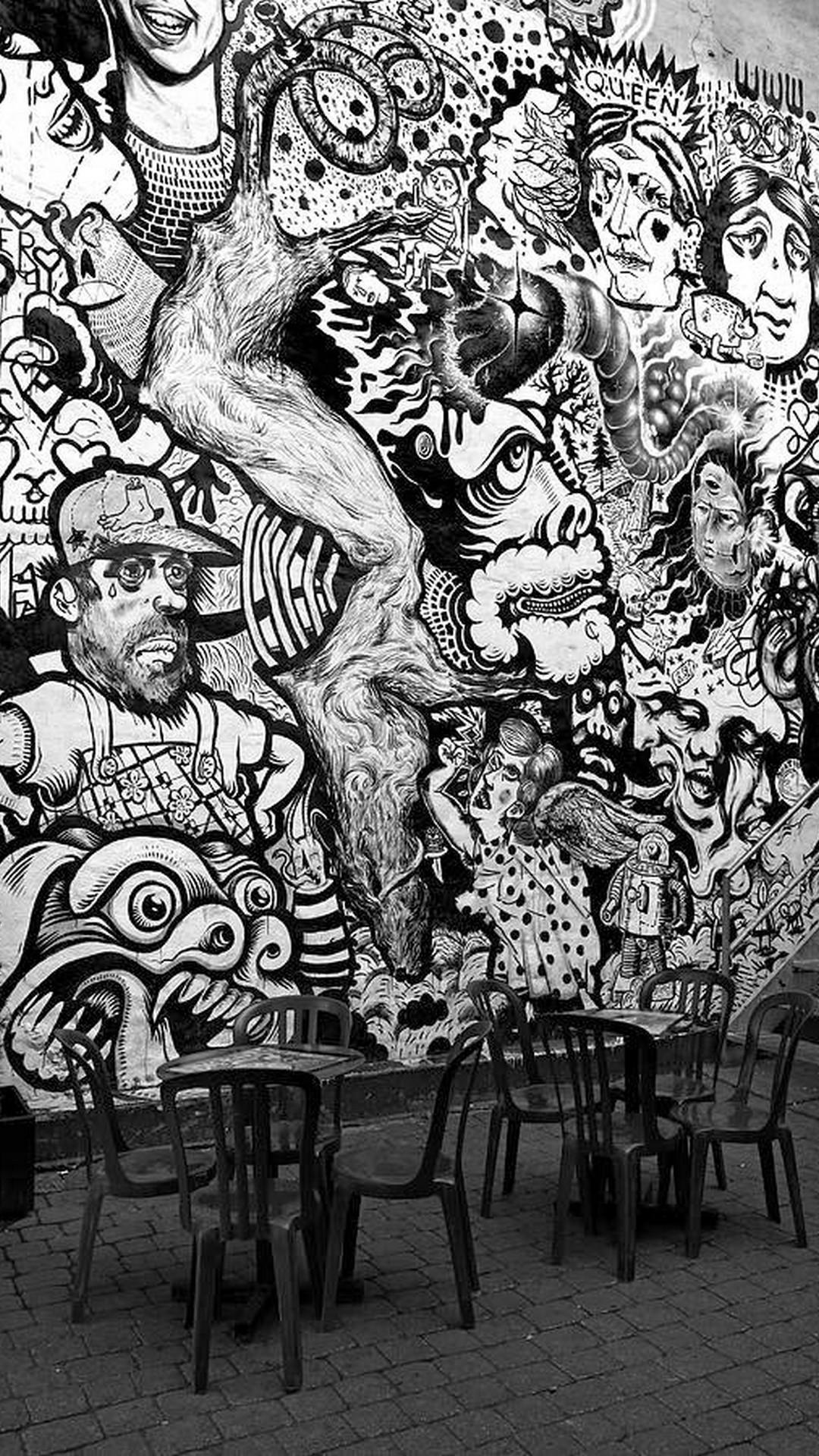 Graffiti Black Characters Art