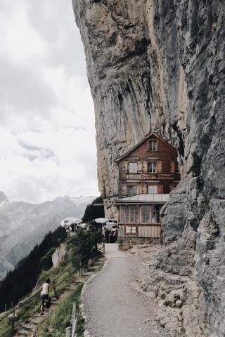 House on Mountain Edge
