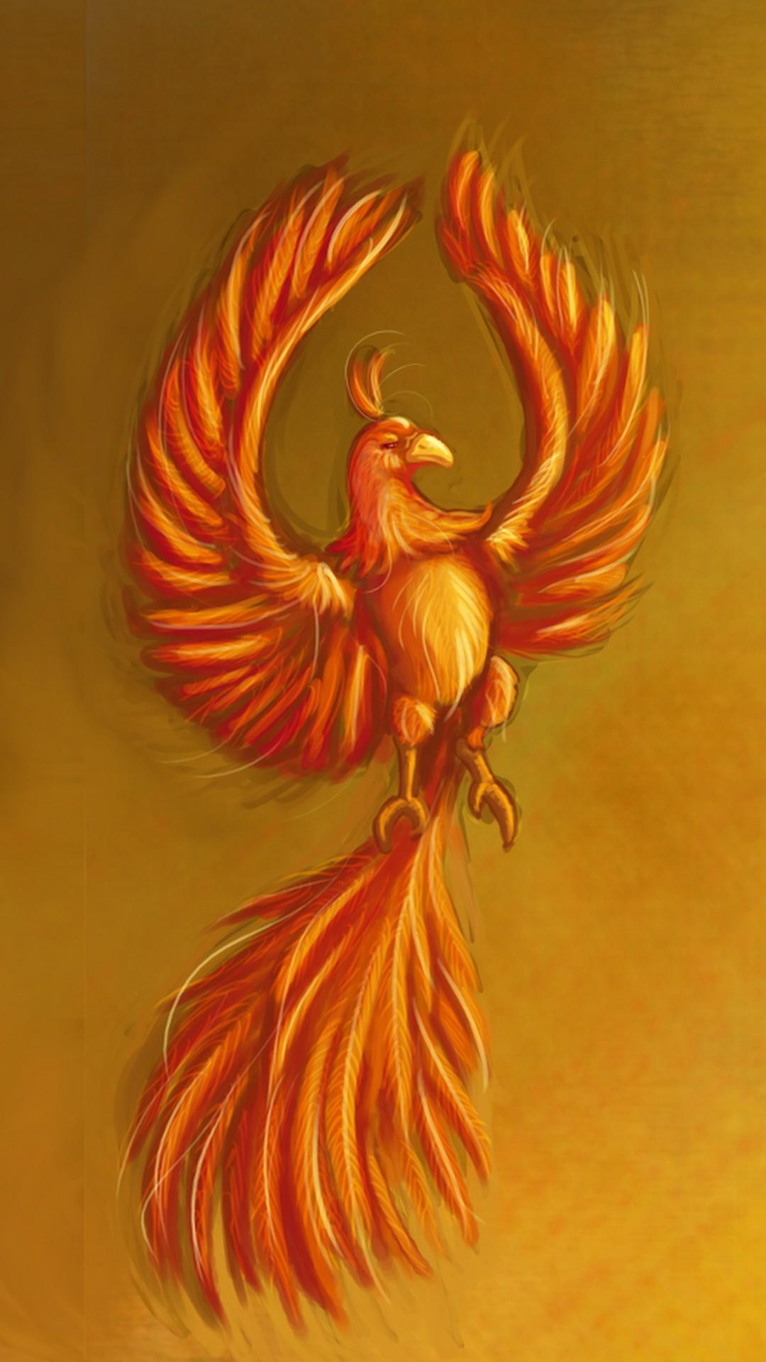 Golden Phoenix Bird
