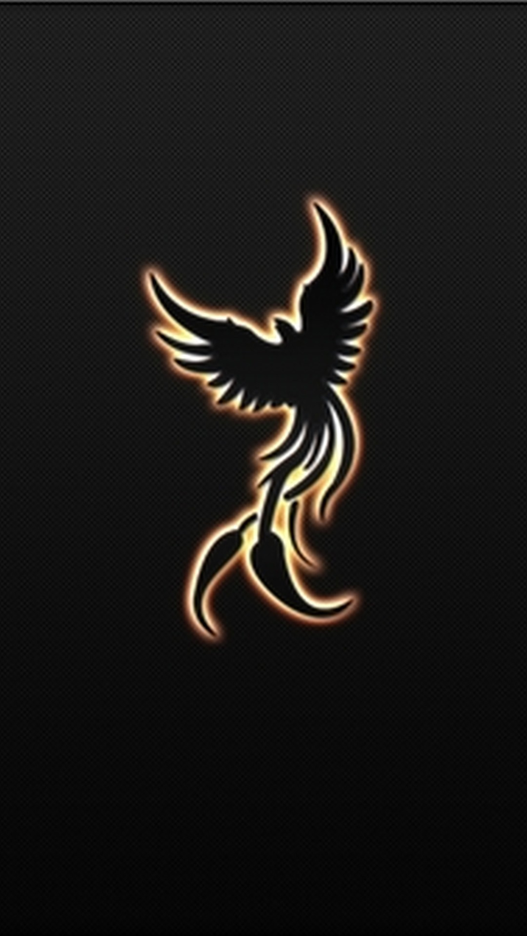 Black Phoenix Bird