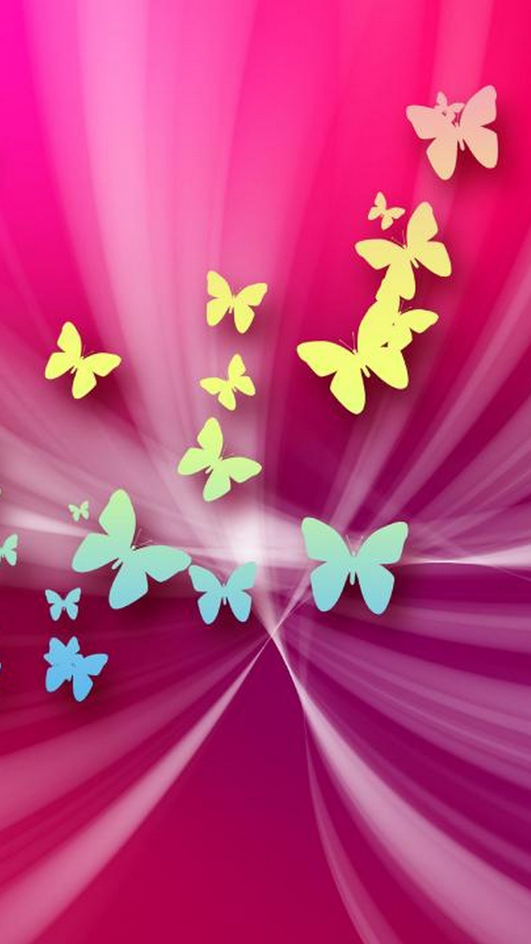 Pink Butterfly Backgrounds For Android
