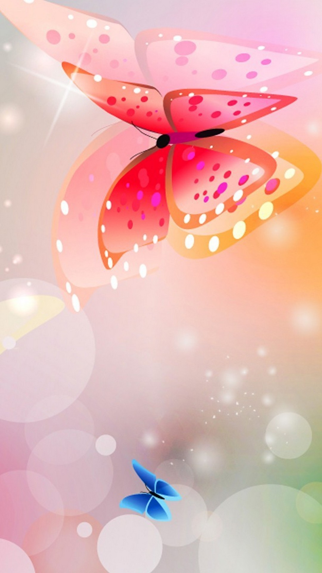 Pink Silver Butterfly Galaxy