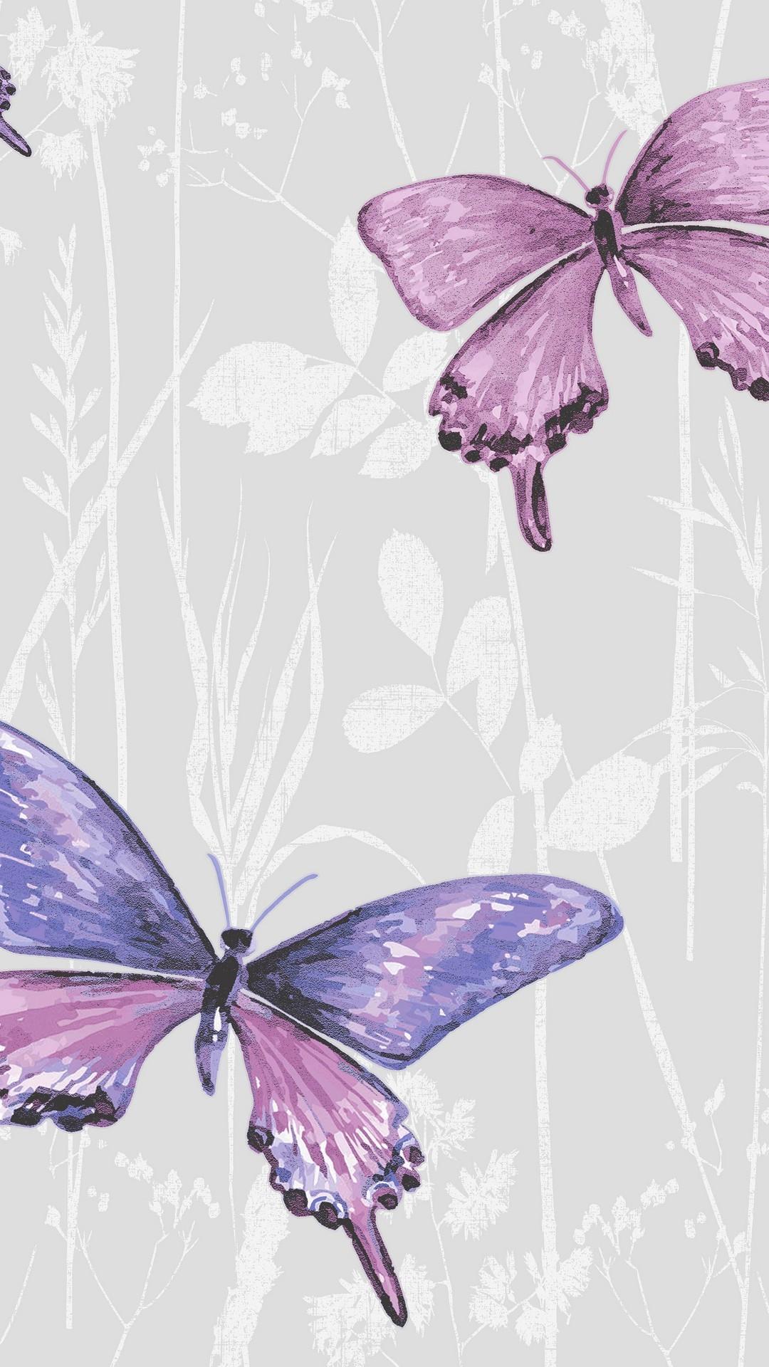 Purple & Pink Beautiful Butterfly