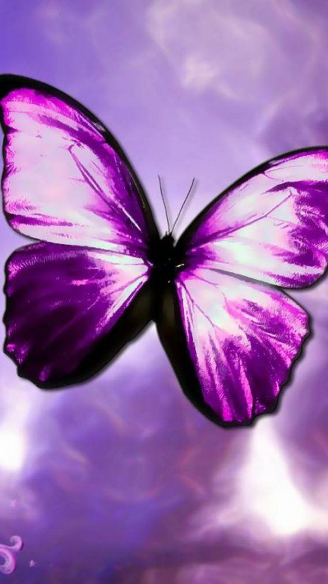 Purple Butterfly Wallpaper For Android