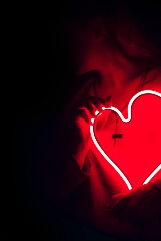Red Neon Heart