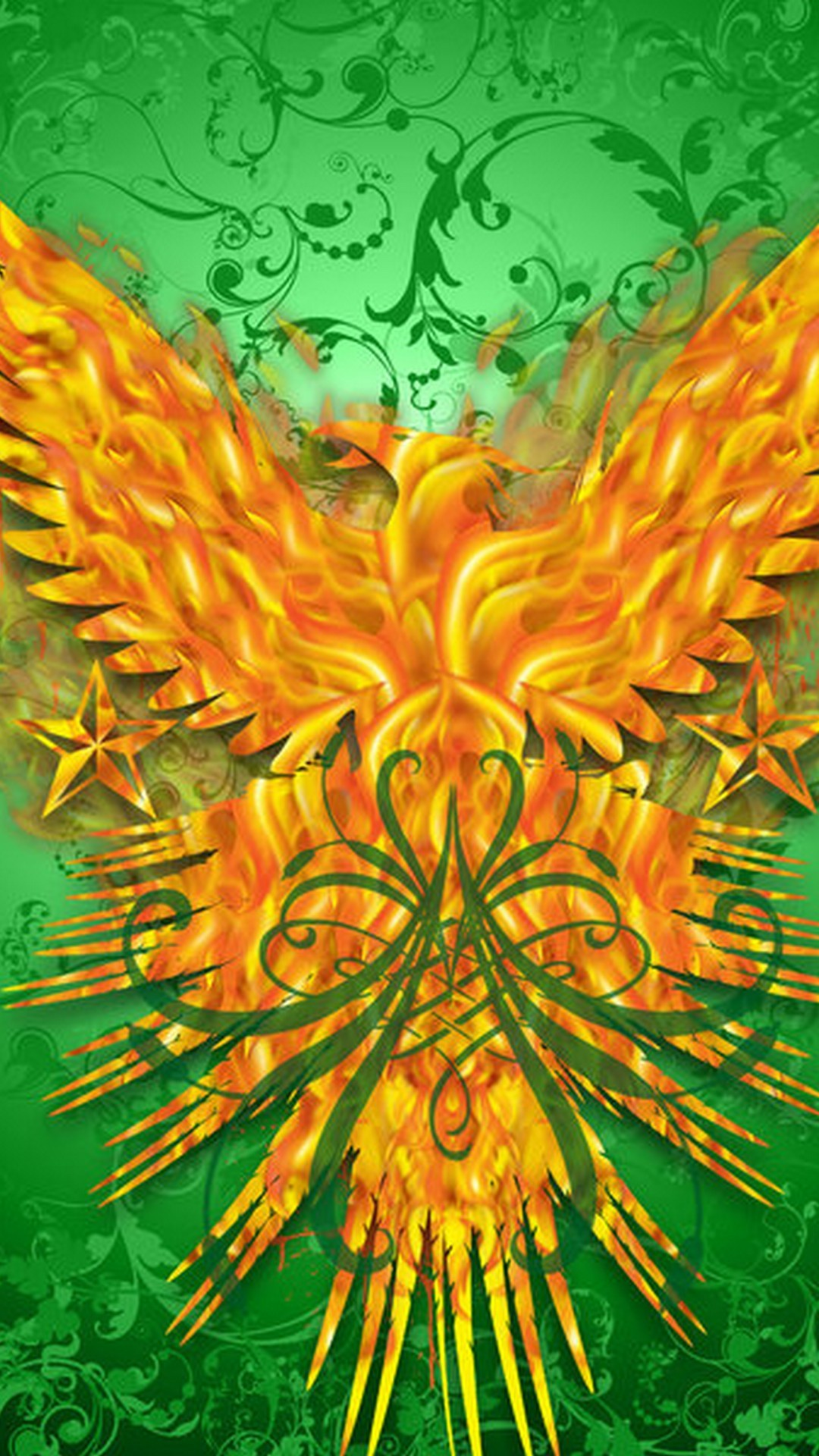 Silver Phoenix Bird