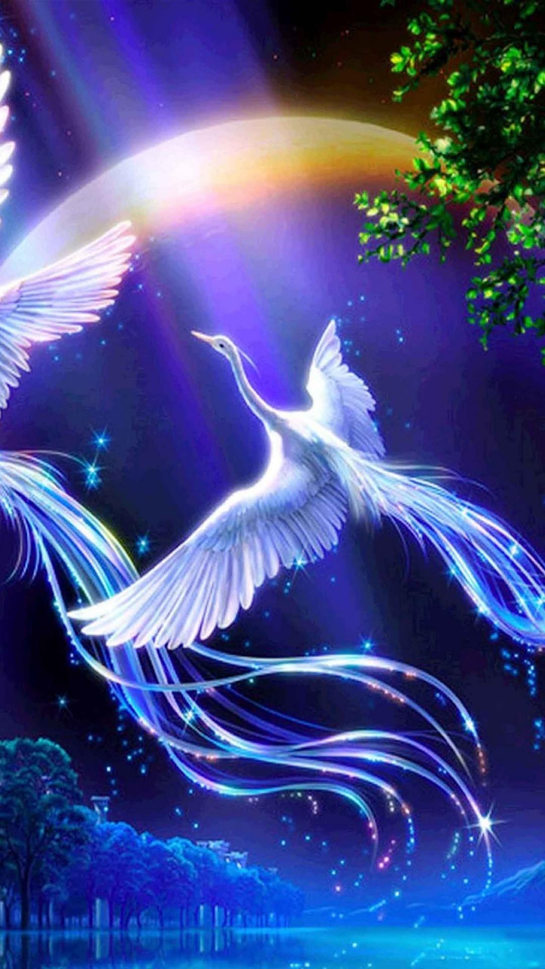 Silver Blue Fantasy Bird