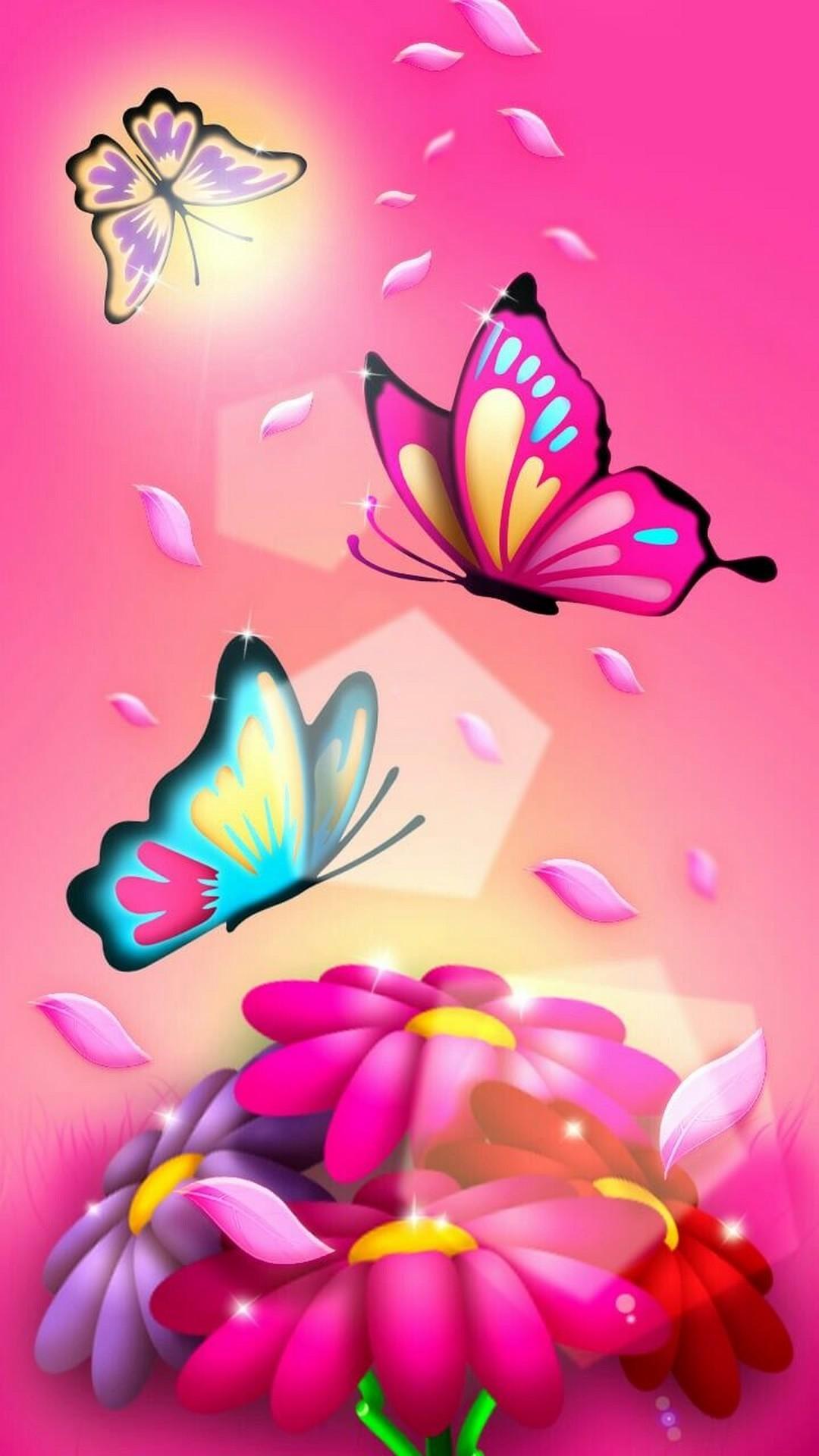 Pink Character Butterflies