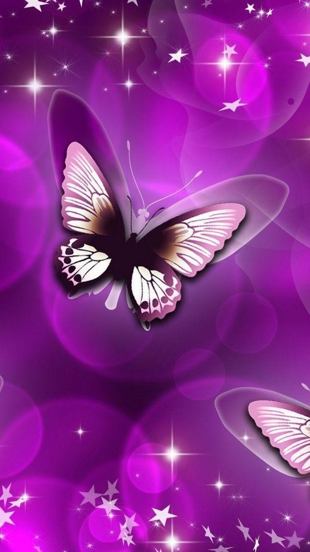 Wallpaper Android Purple Butterfly