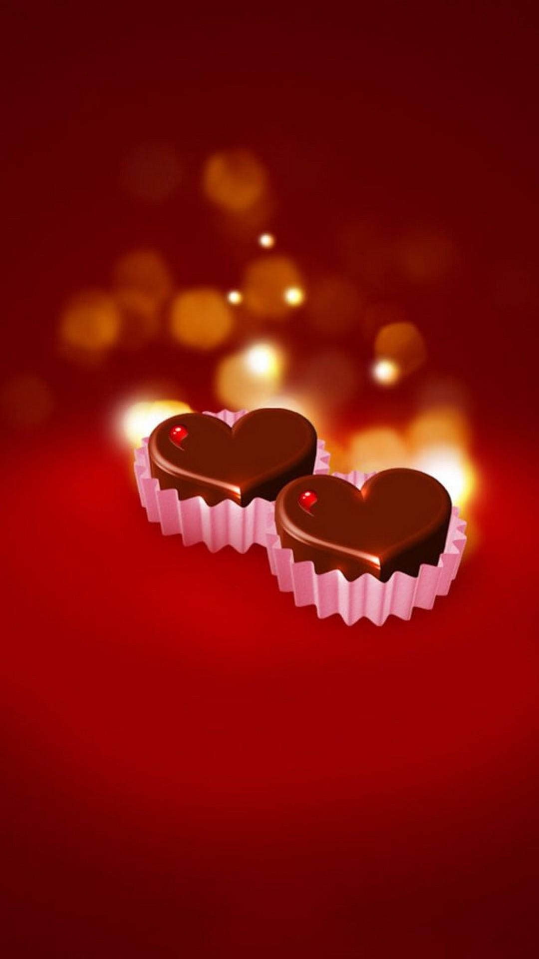 Dark Red Chocolate Heart