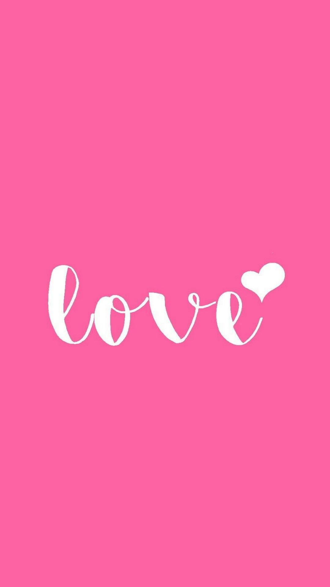 Pink Love Text