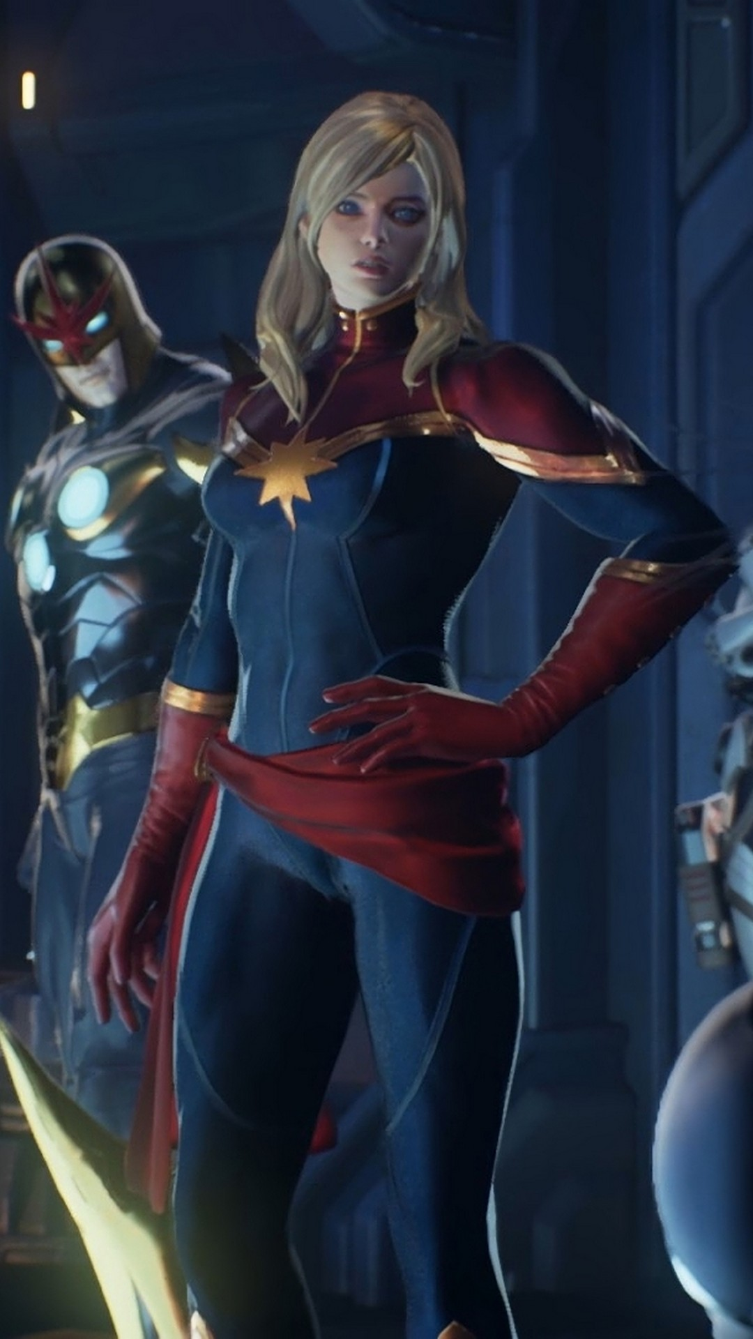 Wallpapers Phone Captain Marvel Animated