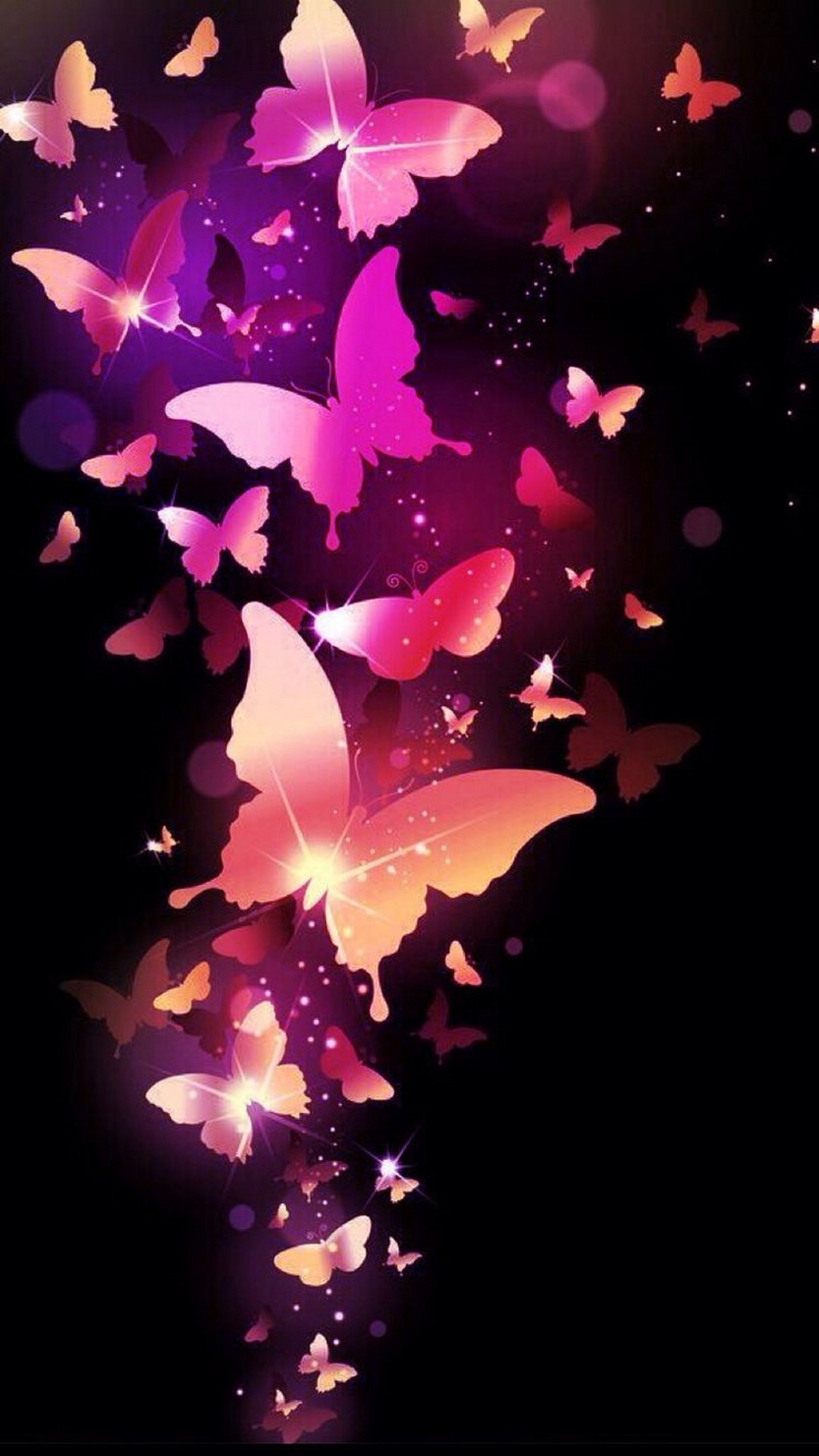 Wallpapers Phone Pink Butterfly